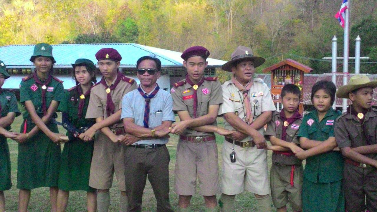 กิจกรรมเดินทางไกล ลูกเสือสามัญ-สามัญรุ่นใหญ่ โรงเรียนชุมชนบ้านอาฮี